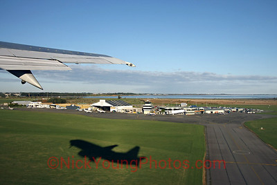 Takeoff from Invercargill Airport.