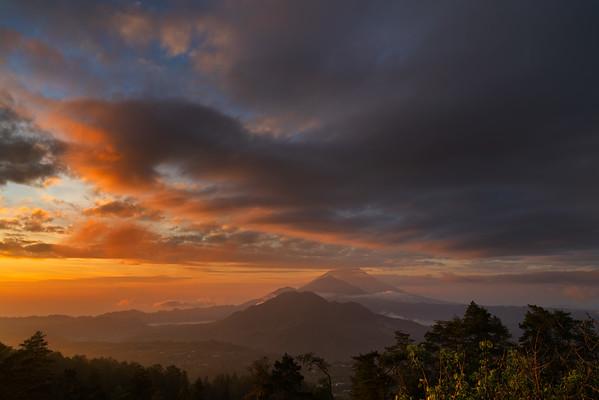 Batur, Abang & Agung at sunrise