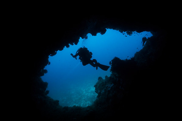 Diver in the cave