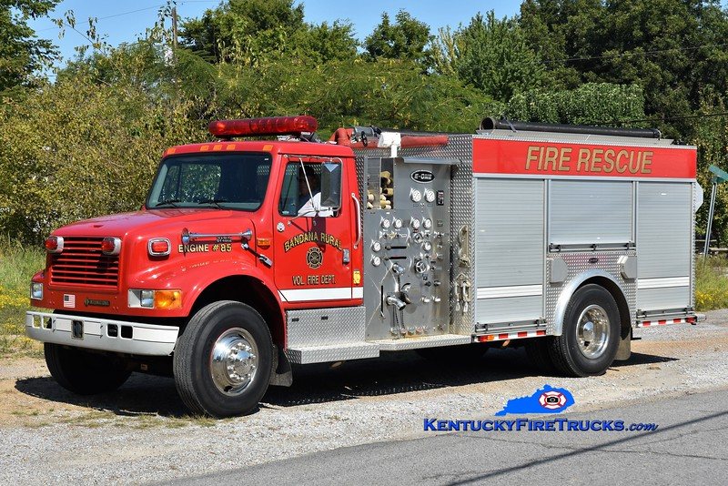 Bandana  Engine 85<br /> 1999 International 4900/E-One 1250/1250<br /> Greg Stapleton photo
