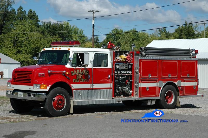 <center> Barlow City  Engine 601 <br> 1992 International 4900/Central States 1000/1000 <br> Greg Stapleton photo </center>
