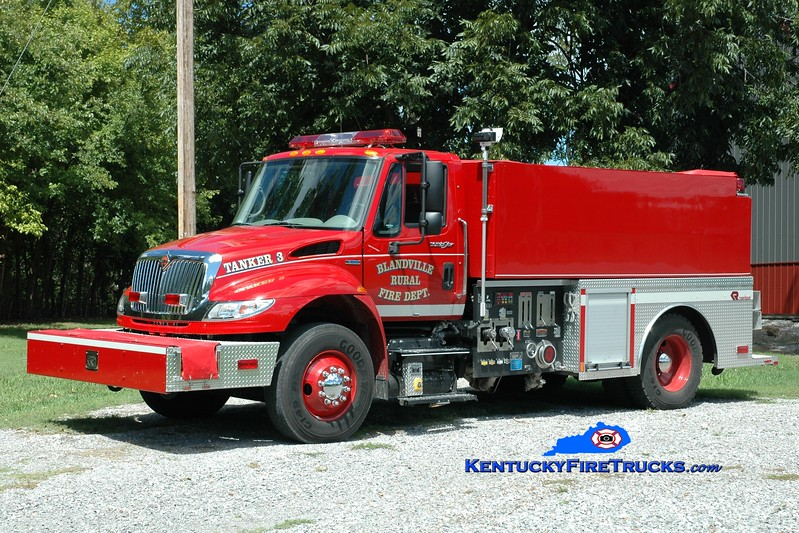 <center> Blandville  Tanker 453 <br> 2008 International 4400/Rosenbauer-Central 1250/2000 <br> Greg Stapleton photo </center>