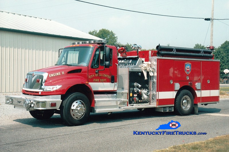 <center> La Center City Engine 11 <br> 2004 International 4400/Pierce 1250/1000 <br> Greg Stapleton photo </center>