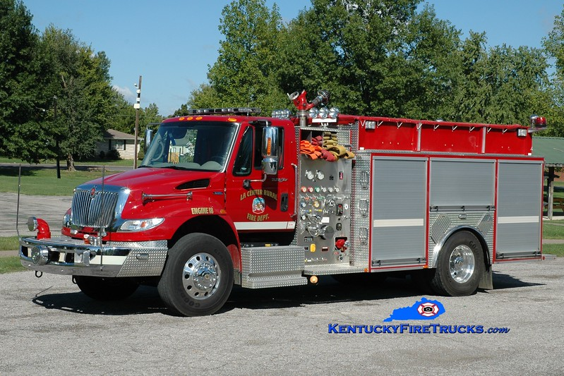 <center> La Center Rural Engine 18 <br> 2008 International 4400/Southern Fire 1250/1250 <br> Greg Stapleton photo </center>