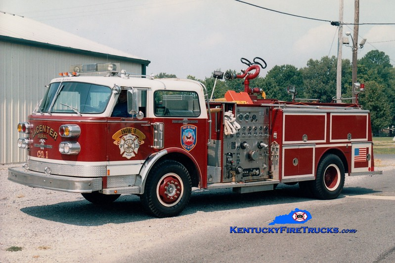 <center> La Center Rural Engine 16 <br> x-Fairview, NJ <br> 1977 American LaFrance Century 1500/500 <br> Greg Stapleton photo </center>
