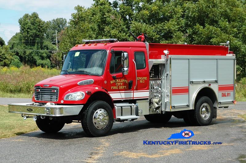 <center> Wickliffe City  Engine 2 <br> 2013 Freightliner M2-106 4x4/Pierce 1250/1000 <br> Greg Stapleton photo </center>
