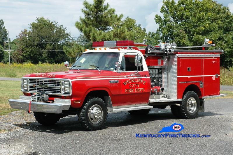 <center> Wickliffe City  Engine 3 <br> x-Slippery Rock, PA <br> 1980 Dodge W400 4x4/Pierce 400/250 <br> Greg Stapleton photo </center>