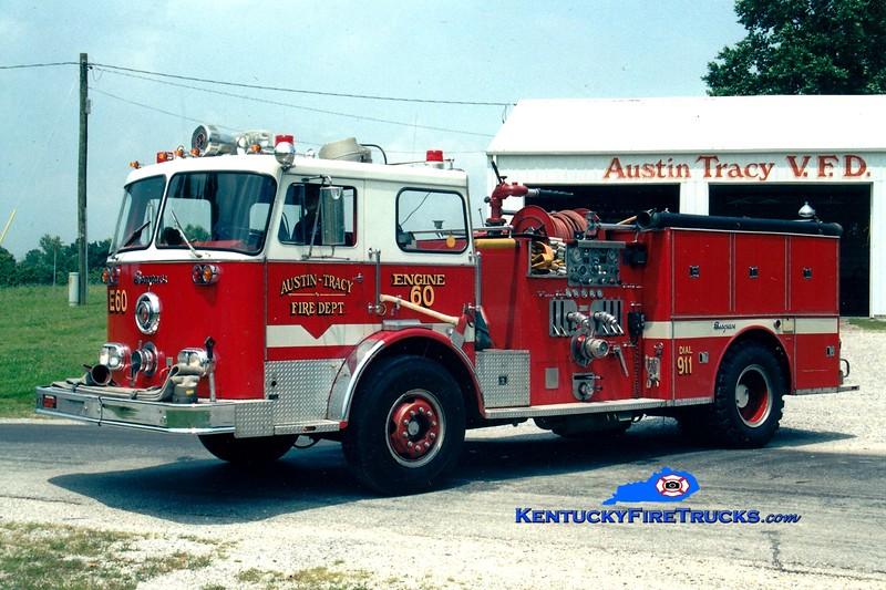 <center> RETIRED <br> Austin-Tracy  Engine 60 <br> x-Winetka, IL <br> 1975 Seagrave PB 1500/500 <br> Greg Stapleton photo <br> </center>