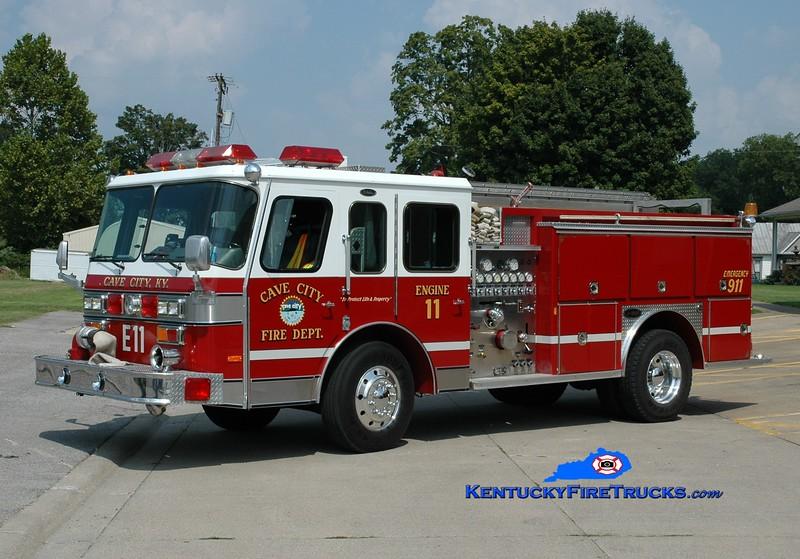 <center> Cave City  Engine 11  <br> 1990 E-One Protector 1250/750 <br> Greg Stapleton photo </center>