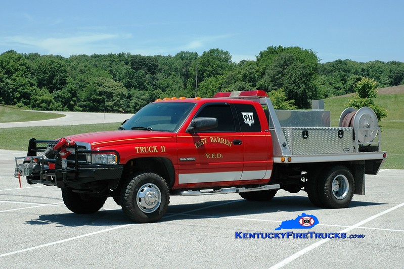 <center> East Barren  Truck 11 <br> 2002 Dodge Ram 3500 4x4/EBFD  250/250 <br> Greg Stapleton photo </center>