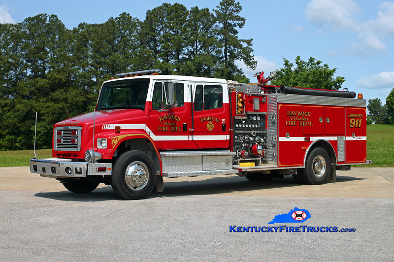 Haywood  Engine 56<br /> 1996 Freightliner FL80/Smeal 1500/750<br /> Kent Parrish photo