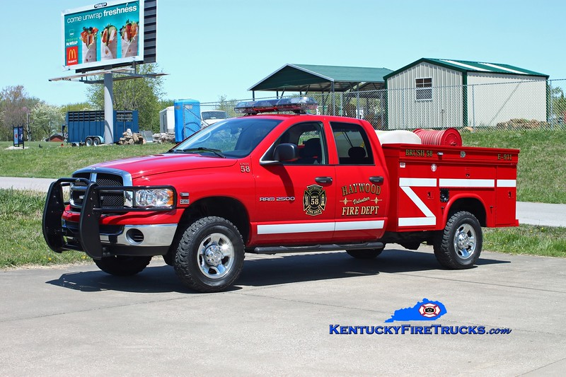 <center> Haywood  Brush 58 <br> 2005 Dodge 2500 4x4/Knapheide 250/200 <br> Kent Parrish photo </center>