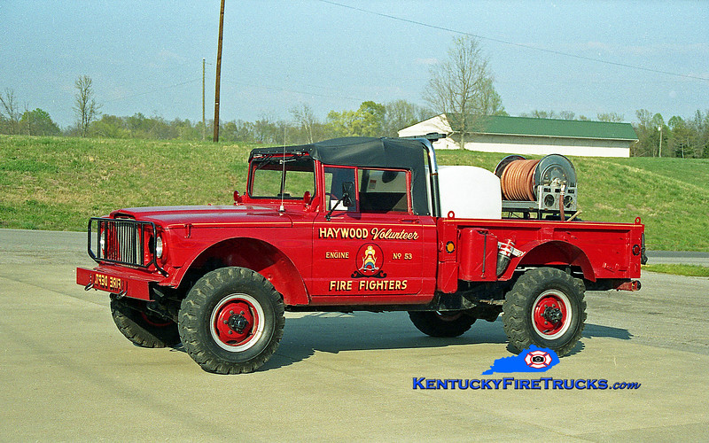 <center> RETIRED <BR> Haywood  Brush 53 <br> 1968 Kaiser 4x4 250/250 <br> Kent Parrish photo </center>