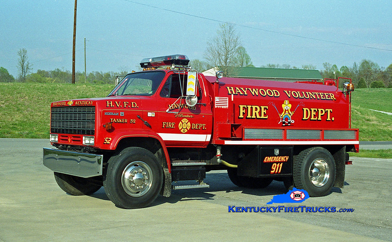 <center> Haywood  Tanker 52 <br> 1986 Chevy Kodiak/Deep South 0/2000 <br> Kent Parrish photo </center>