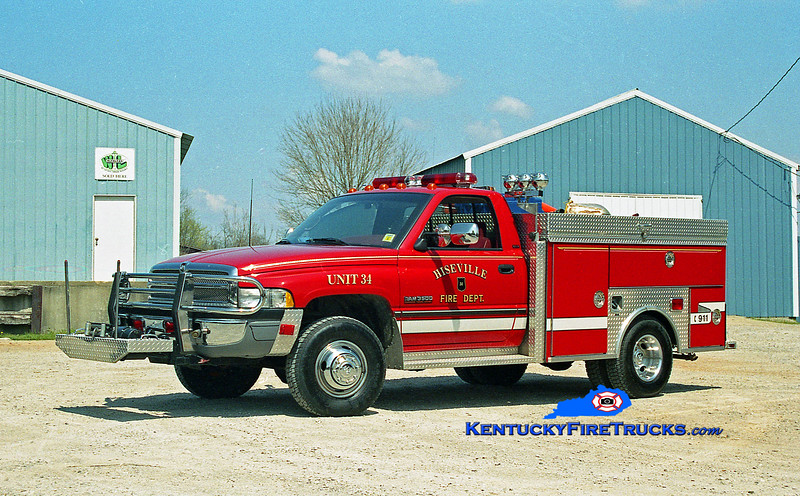 <center> Hiseville  Rescue 34 <br> 1994 Dodge 3500 4x4/Slagles 250/250 <br> Kent Parrish photo </center>