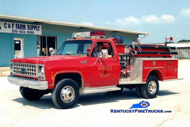 <center> Hiseville  Rescue 35 <br> x-Beloit, WI <br> 1989 Chevy 4x4/Pierce 500/250 <br> Greg Stapleton photo </center>