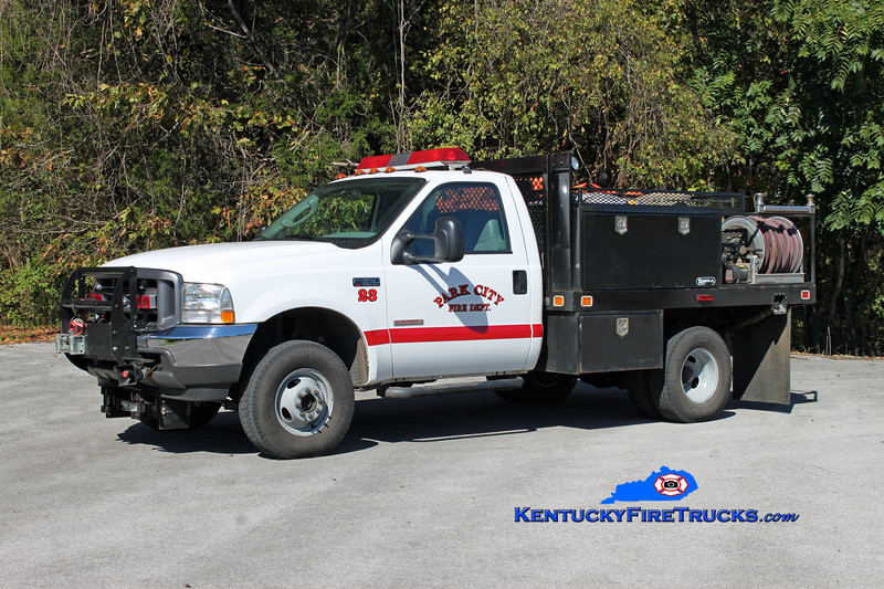 <center> RETIRED <br> Park City  Brush 23 <br> 2004 Ford F-350 4x4/Knapheide-Fontaine 250/250 <br> Kent Parrish photo </center>