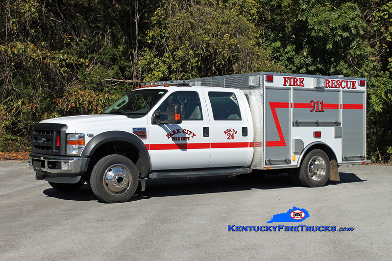 <center> Park City  Rescue 24 <br> 2007 Ford F-450 4x4/Bluegrass <br> Kent Parrish photo </center>