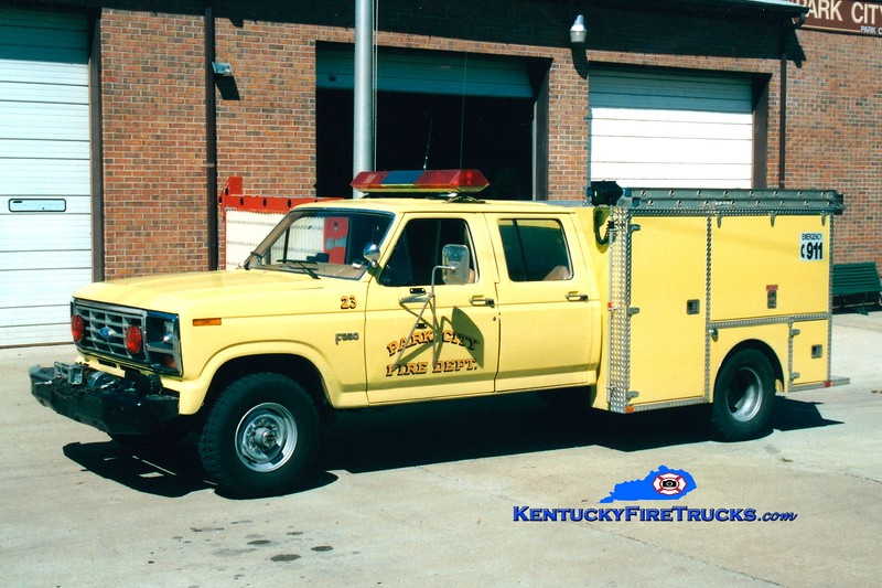 <center> RETIRED <br> Park City  Rescue 23 <br> 1990 Ford F-350/Local <br> Greg Stapleton photo </center>