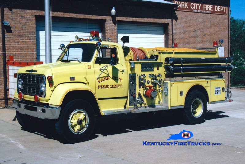 <center> RETIRED <br> Park City  Engine 21 <br> 1975 Chevy C/American LaFrance 1000/750 <br> Greg Stapleton photo </center>