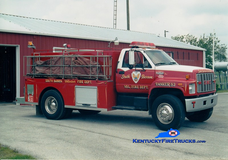 <center> South Barren  Tanker 83 <br> 1994 GMC TopKick/Wynn 350/2000 <br> Greg Stapleton photo </center>