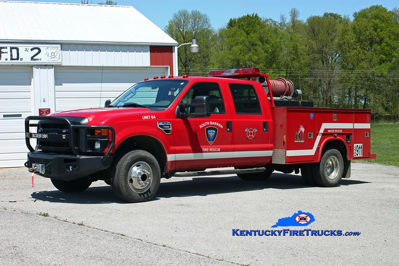 <center> South Barren  Brush 84 <br> 2007 Ford F-350 4x4/Knapheide/Darley 250/250 <br> Kent Parrish photo </center>