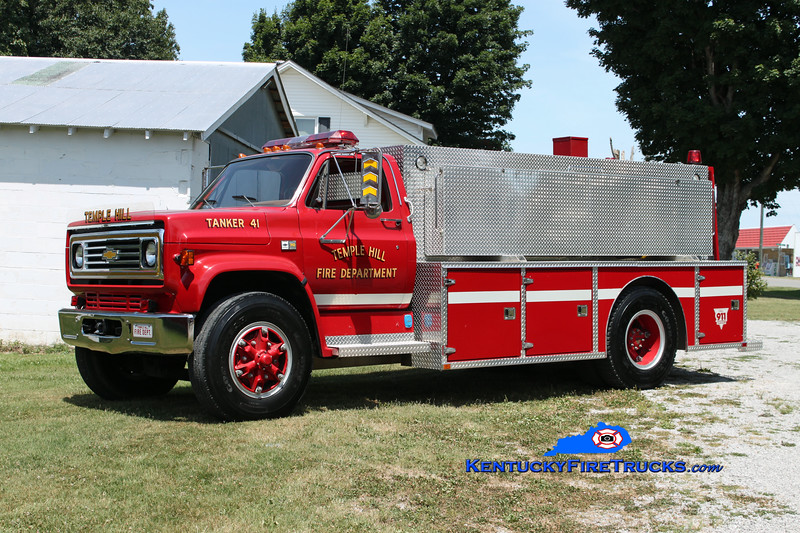 <center> Temple Hill  Tanker 41 <br> 1989 Chevy C70/Wimpee Welding 250/1500 <br> Kent Parrish photo </center>