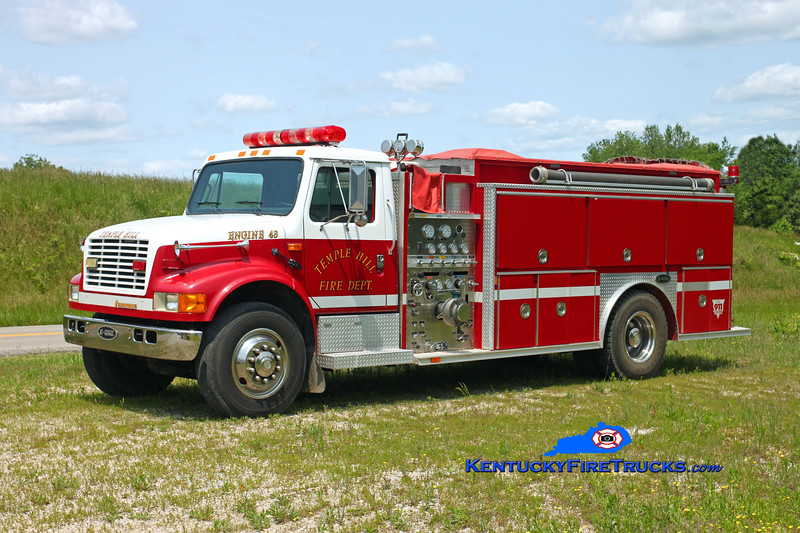 Temple Hill  Engine 43<br /> 1992 International 4900/E-One 1250/1200<br /> Kent Parrish photo