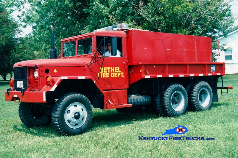 <center> RETIRED <br> Bethel  Tanker 4 <br> 1975 AM General/FD 0/2000 <br> Greg Stapleton photo </center>