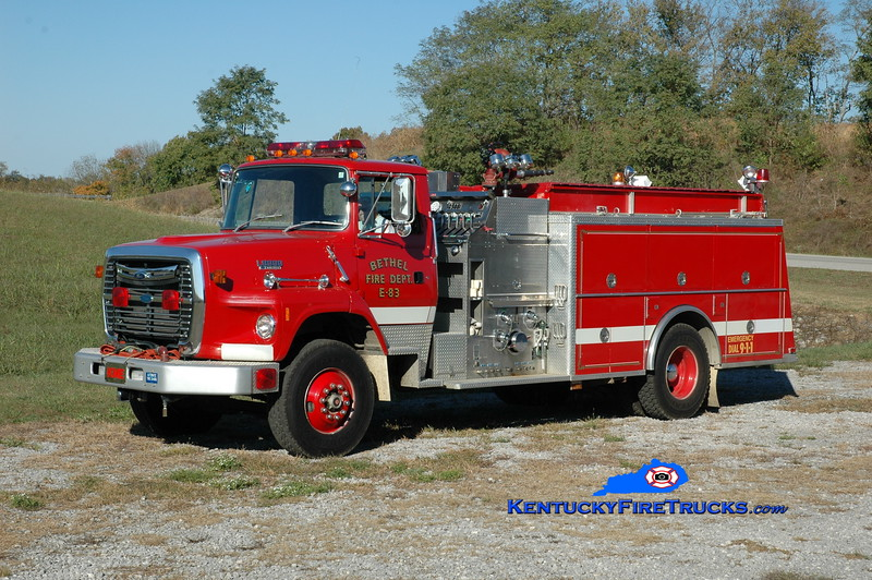 Bethel  Engine 83<br /> x-Western Holmes, OH <br /> 1992 Ford  L8000/KME 1250/1000<br /> Greg Stapleton photo