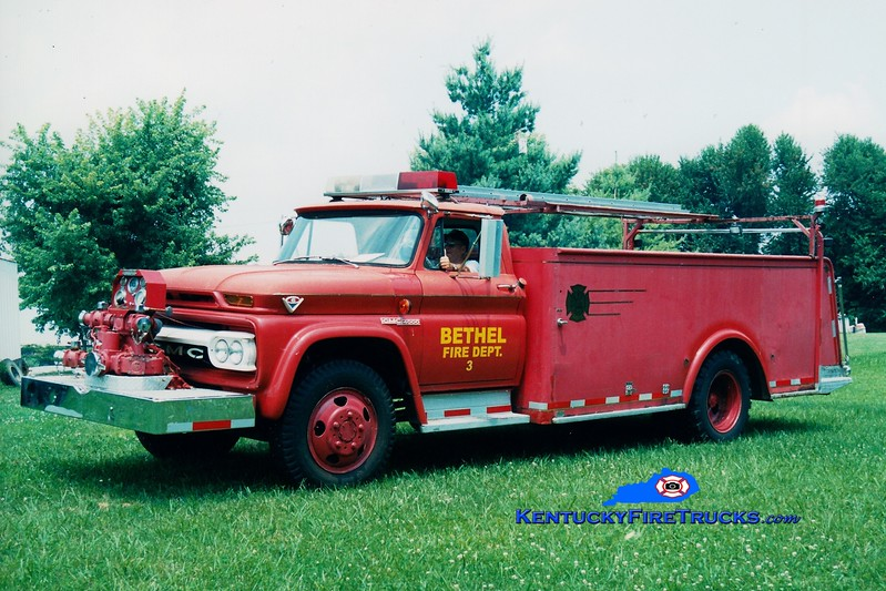 <center> RETIRED <br> Bethel  Engine 3 <br> x-Menifee County, KY <br> 1961 GMC/Allegheny 500/1000 <br> Greg Stapleton photo </center>