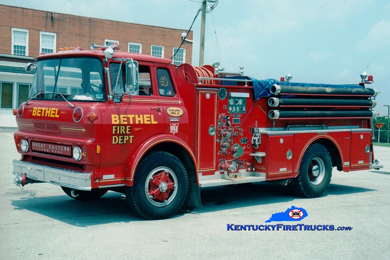 <center> RETIRED <br> Bethel  Engine 2 <br> x-Sharpsburg, KY <br> 1969 GMC/Oren 750/750 <br> Greg Stapleton photo </center>
