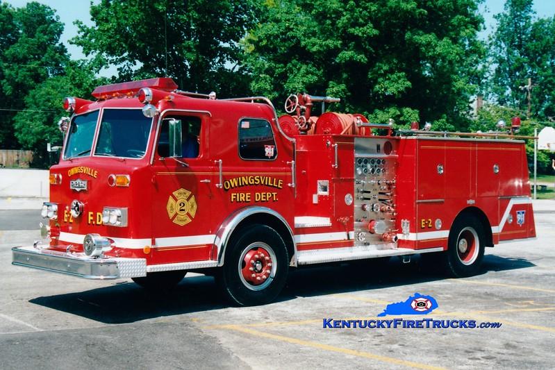 <center> RETIRED <br> Owingsville   Engine 2 <br> x-Northern Hills, OH <br> 1973 Pirsch 1250/750  <br> Greg Stapleton photo </center>
