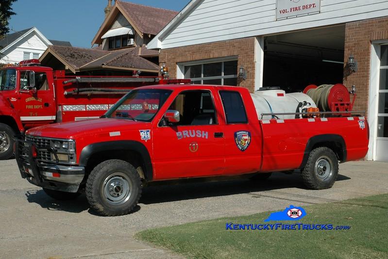<center> Owingsville  Brush 1 <br> 1999 Chevy 3500 4x4/FD 250/250 <br> Greg Stapleton photo </center>
