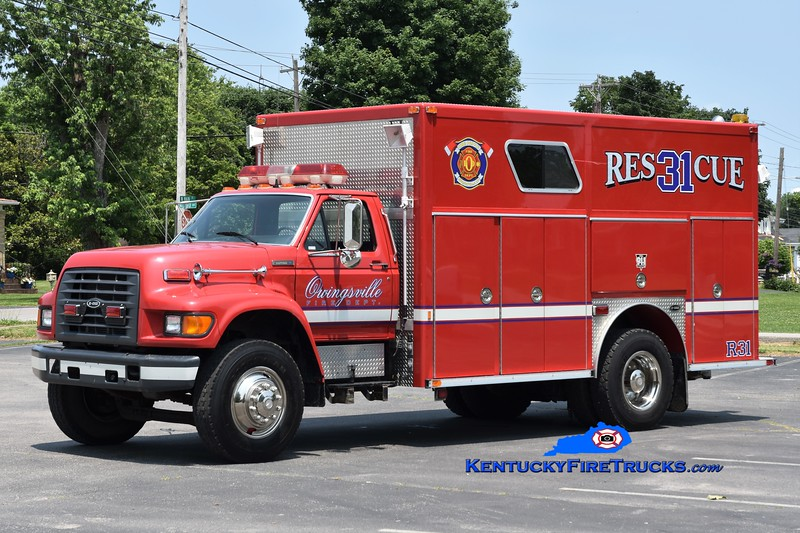 Owingsville  Rescue 31<br /> x-Augusta, KY <br /> 1998 Ford F-800/E-One<br /> Greg Stapleton photo