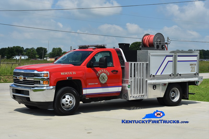 Preston  Rescue 21<br /> 2015 Chevy 3500 4x4/Southeast Apparatus 100/280/20<br /> Greg Stapleton photo