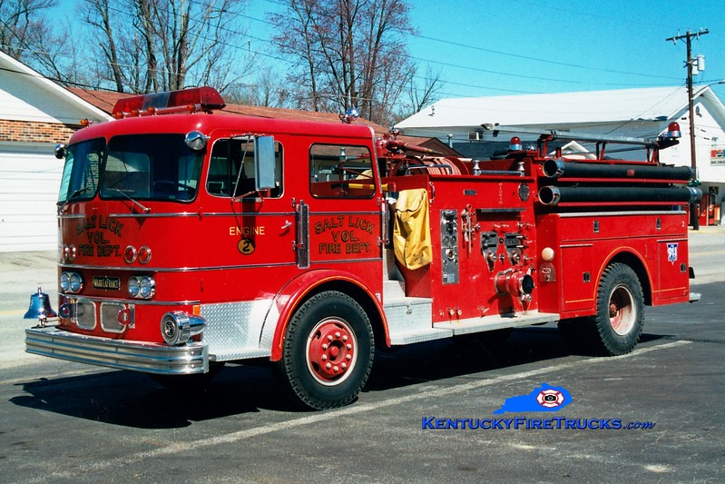 <center> RETIRED <br> Salt Lick  Engine 2 <br> x-South Schenectady, NY <br> 1971 Ward LaFrance 82 1250/750  <br> Greg Stapleton photo </center>
