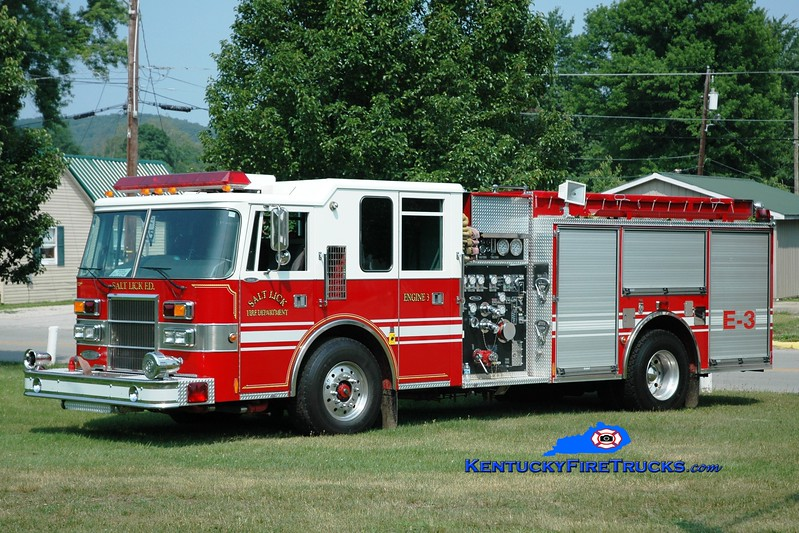 <center> Salt Lick  Engine 3 <br> x-Newton Twp, OH <br> 1996 Pierce Dash 1750/1000  <br> Greg Stapleton photo </center>