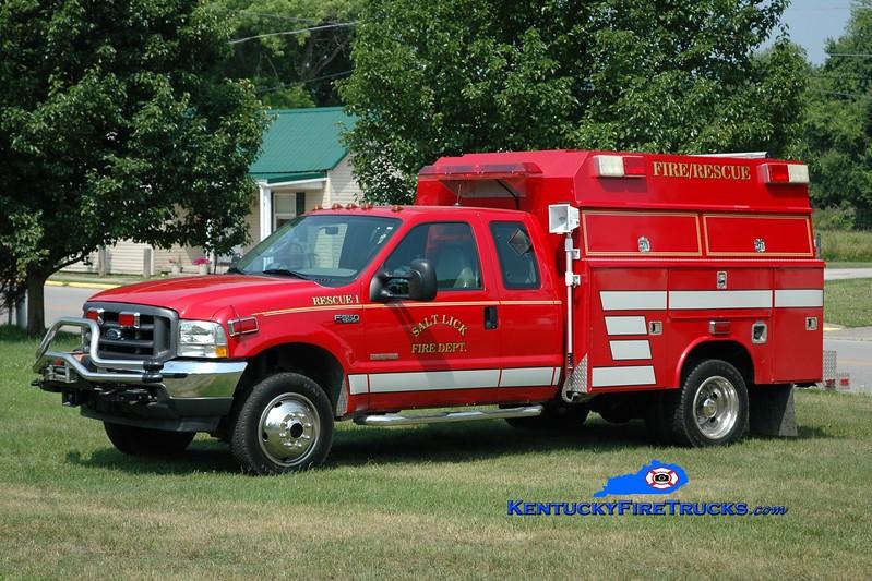 <center> Salt Lick  Rescue 1 <br> 2003 Ford F-550 4x4/Fouts Bros   <br> Greg Stapleton photo </center>