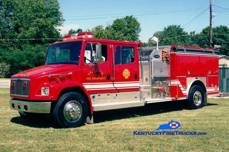 <center> Salt Lick  Engine 1 <br> 1999 Freightliner/FL70E-One 1250/1000  <br> Greg Stapleton photo </center>