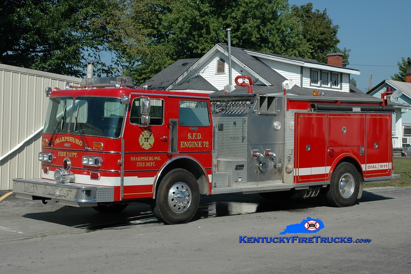 <center> Sharpsburg  Engine 72  <br> x-Marcy, NY <br> 1984 Duplex D-350/Saulsbury 1500/1000 <br> Greg Stapleton photo </center>