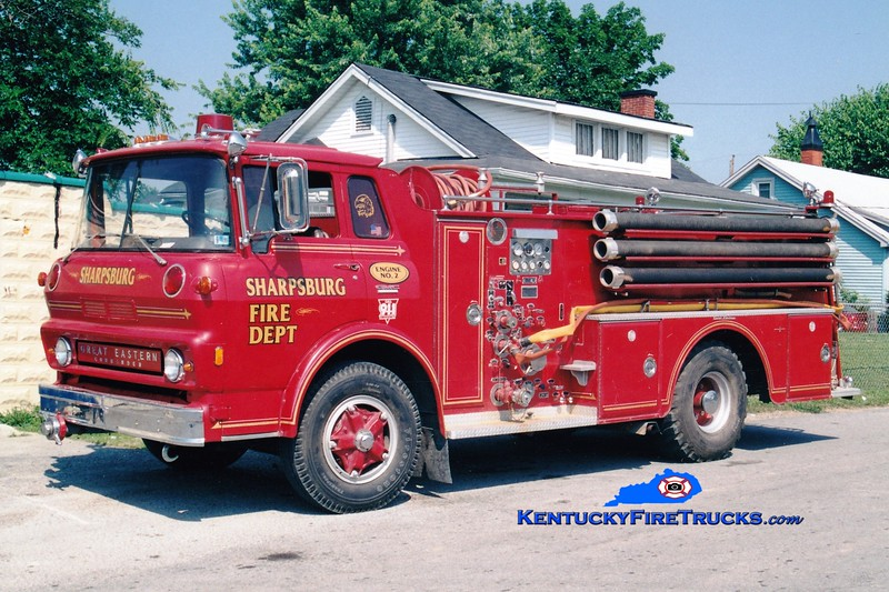 <center> NO LONGER IN SERVICE <br> Sharpsburg  Engine 2  <br> 1969 GMC/Oren-Great Eastern 750/750 <br> Greg Stapleton photo </center>