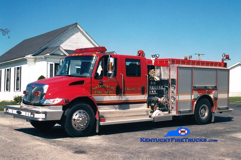 <center> Sharpsburg  Engine 71  <br> 2003 International 4400/Pierce 1250/1000 <br> Greg Stapleton photo </center>