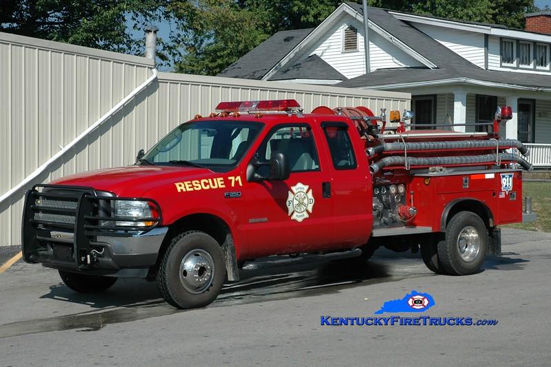 <center> Sharpsburg  Rescue 71  <br> 2004 Ford F-350 4x4/1980 Allegheny 250/250 <br> Greg Stapleton photo </center>