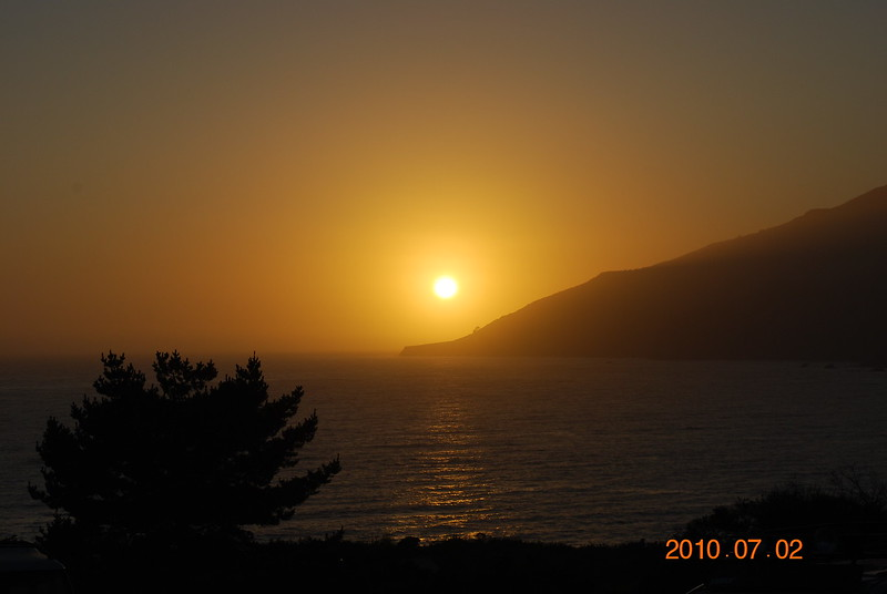 Sunset at Kirk Creek Campgrounds, Big Sur, Ca.