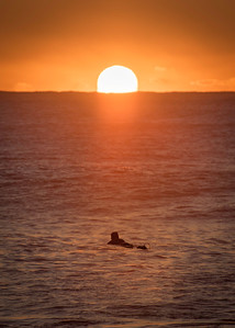 Surfer sunrise