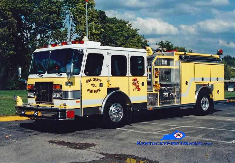 <center> RETIRED <br> Bell County Pumper 10  <br> 1993 E-One Cyclone TC 1250/1250 <br> Greg Stapleton photo </center>