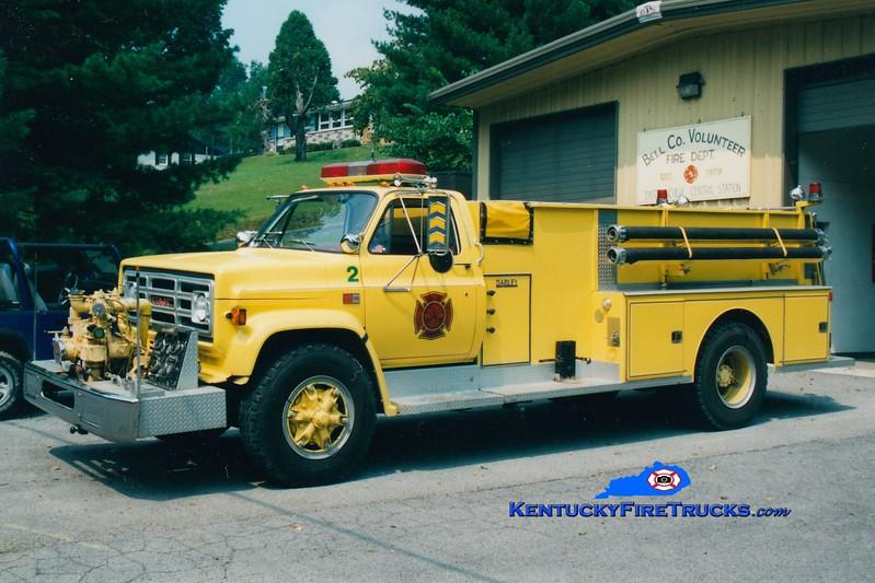 <center> RETIRED <br> Bell County Pumper 8  <br> x-Pumper 2 <br> 1984 GMC/Darley 500/1200 <br> Greg Stapleton photo </center>