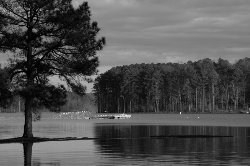 High water at Falls Lake.<br /> best print size - 8x12 or 12x18