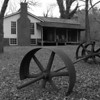 House and mill parts, Eno River, Few's Ford Access<br /> best print size - 8x12 or 12x18